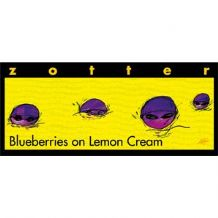 Zotter Blueberries On Lemon Cream Dark Chocolate Bar 70g